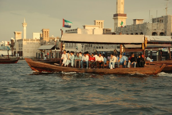 An Abra crossing the Dubai Creek