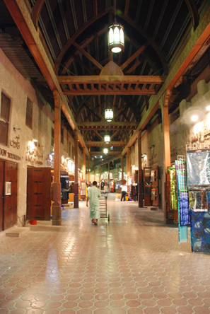 The traditional Souq in Old Dubai - textile souq