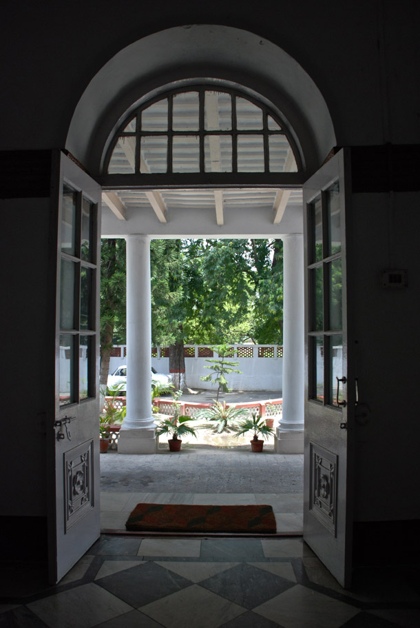 The entrance to the Magistrate's House