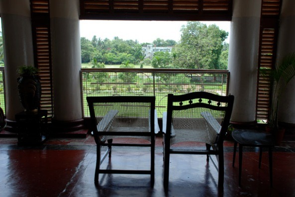 The old armchairs from the colonial period, The Magistrate's House, No1 Thackeray Road, Alipore