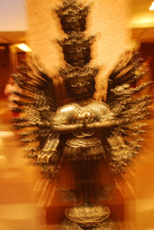 The magnificent bronze idol of the God Lokeshwar