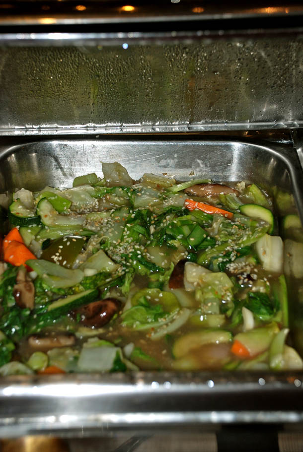 Stir fried vegetables with Sesame seeds and the chinese vegetable Pakchoi