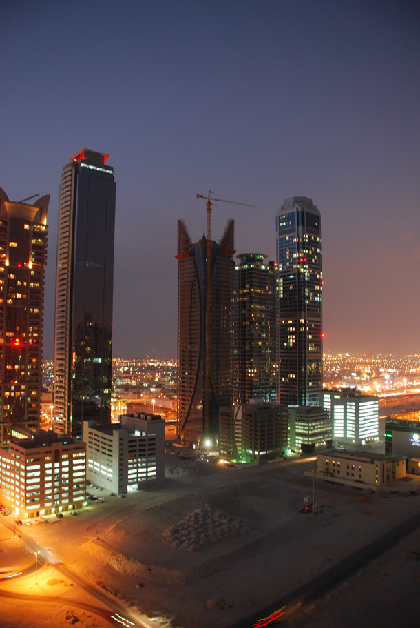 Business Bay District at Night-time