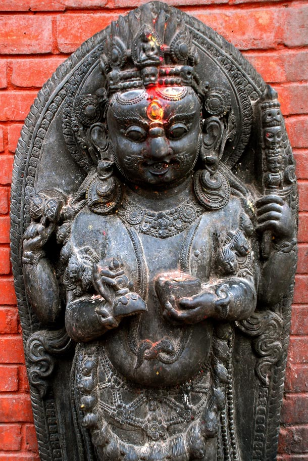 Statue of the Hindu deity, Bhairav