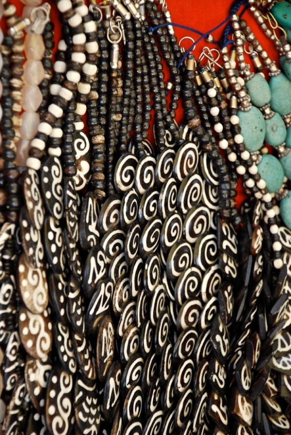 Amazing array of jewellery on the hill-top