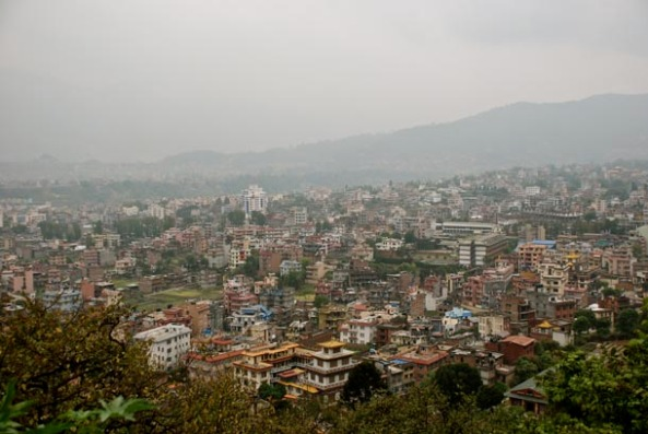 The Kathmadu city from the hill-top