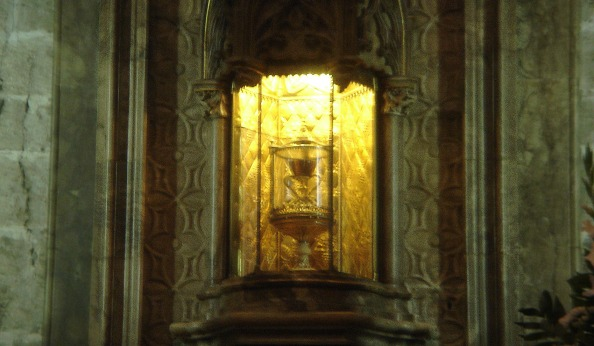 The actual chalice inside the Cathedral - the blurriest picture I've ever taken!