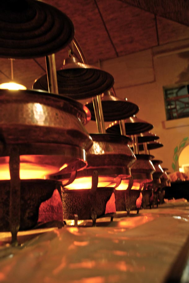The Brass food warmers