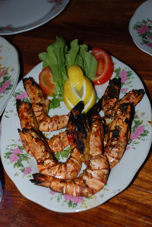 Robyan Mashwi/Grilled Tiger Shrimps