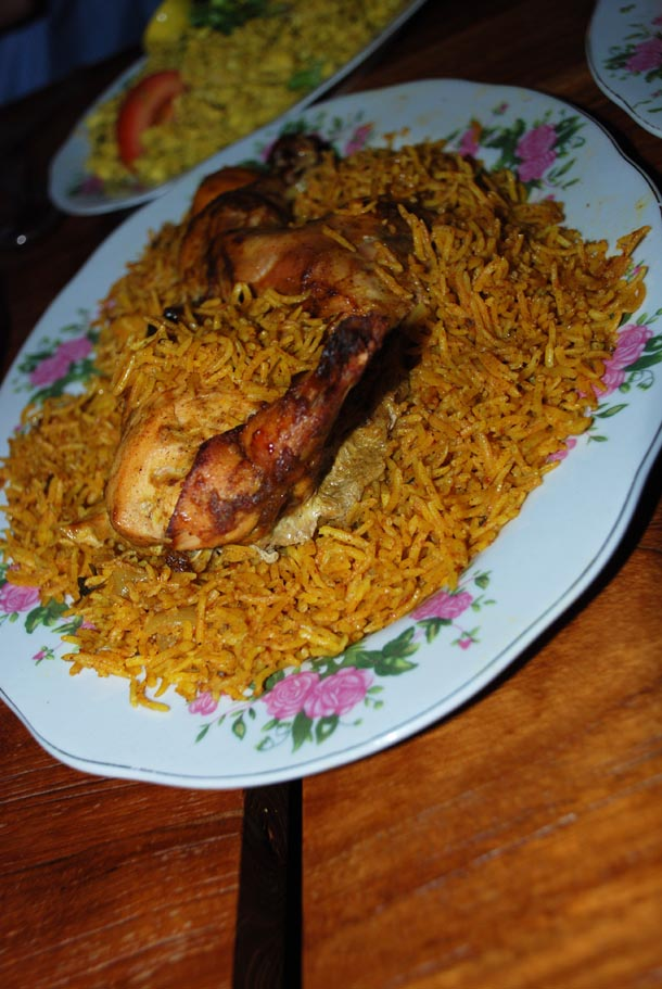 Machboos Daja/ Chicken cooked with Yellow Rice
