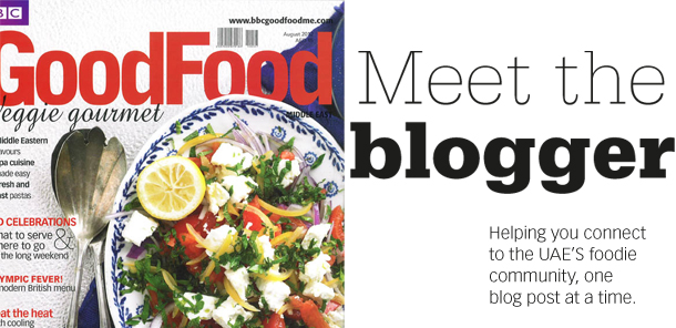 BBC GoodFood Middle east, August 2012 Issue - 'Meet the Blogger'