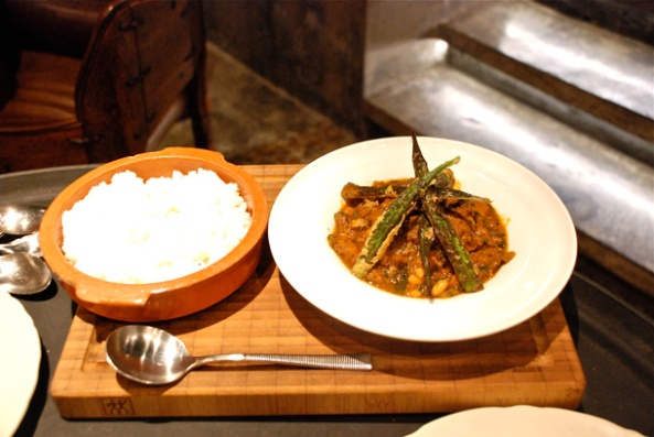 Beef Tripe Stew with White Beans and Tomato Sauce and served with Pap.