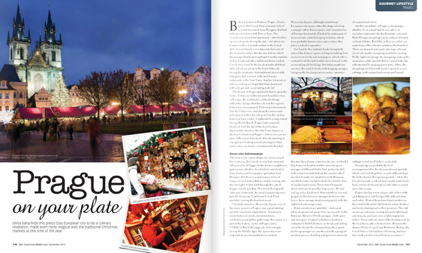 Prague in BBC GoodFood ME , December 2013