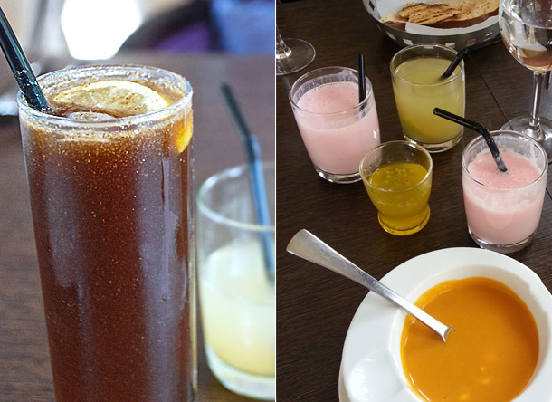 Masala Pepsi, Strawberry Lassi, Saffron Lemonade
