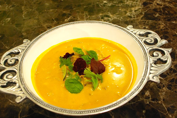 Chicken and Pumpkin in Coconut & Bzar broth
