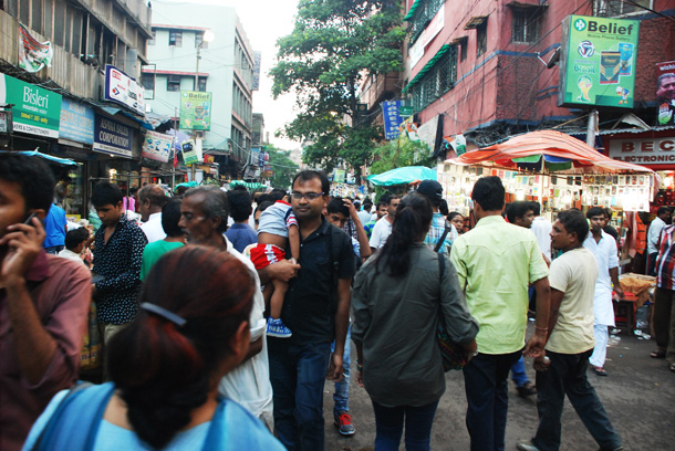 Slowly getting crowded in Chandni Chowk as Iftar sets in