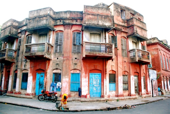 Beautiful old buildings in North Kolkata