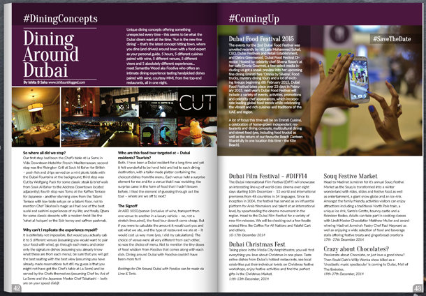 Dining Concept, Food e Mag dxb