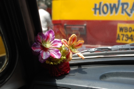 The dashboard of taxis, Kolkata