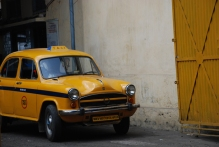 The yellow taxi, Kolkata