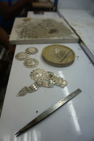 The silver mould for the ornate gold jewellery