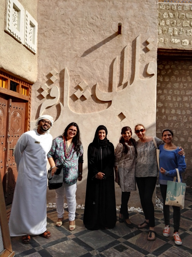 Sayeed Zamzam, myself, Fatima Salim Al Shuweihi (Heart of Sharjah), Arva Ahmed (Frying Pan Adventures), Sally Prosser (My Custard Pie), Afshan Ahmed (The National)