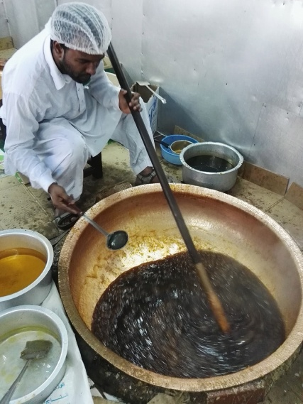 Thickening of Omani Halwa