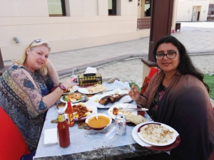 Satiated foodies... happy just with the thought of good food surrounding us