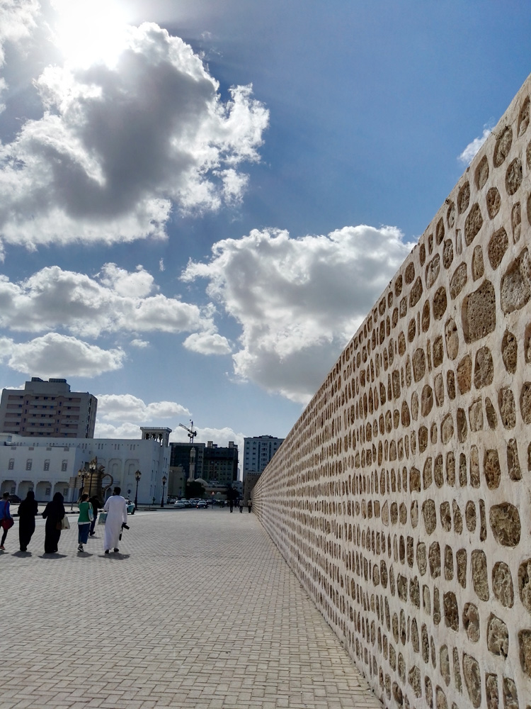 Wall of Sharjah made with coralstone that dates back to the 16th century AD