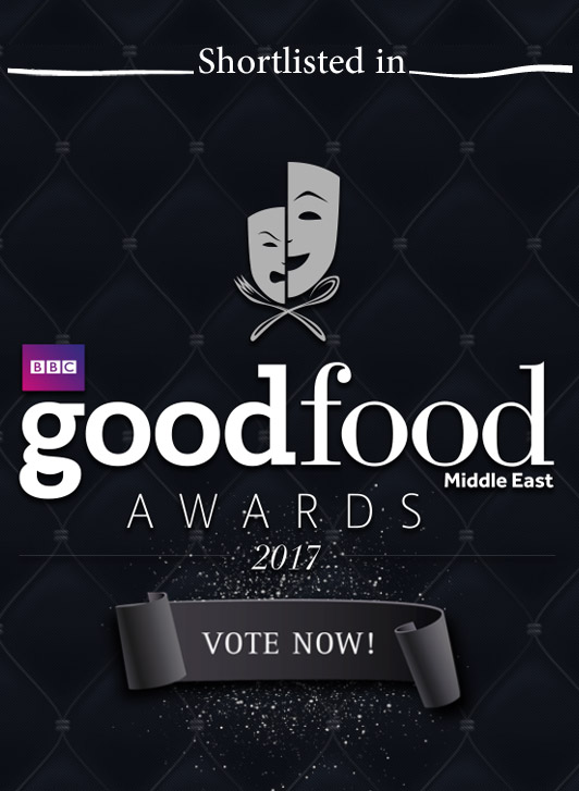Shorlisted as Food Influencer, BBC GoodFood Awards Middle East Awards 2017