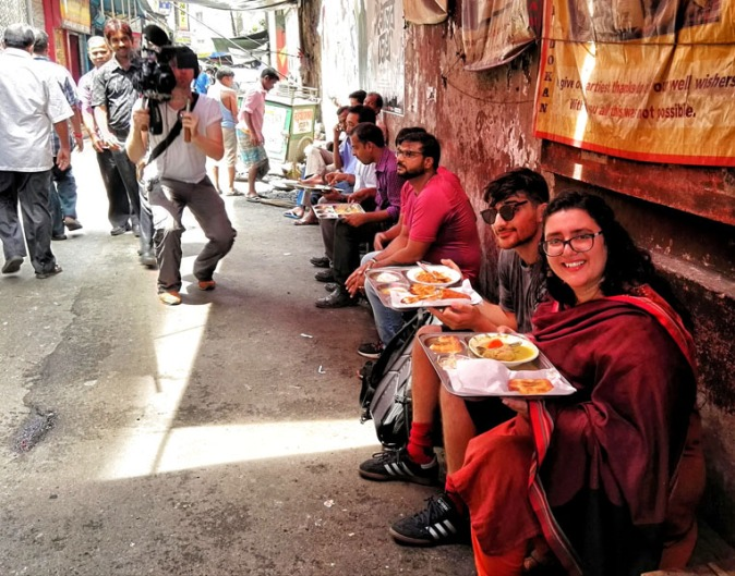 Presenting Kolkata's street food by presenting Chittobabur Dokan in Dacres Lane with BBC Travel Show UK