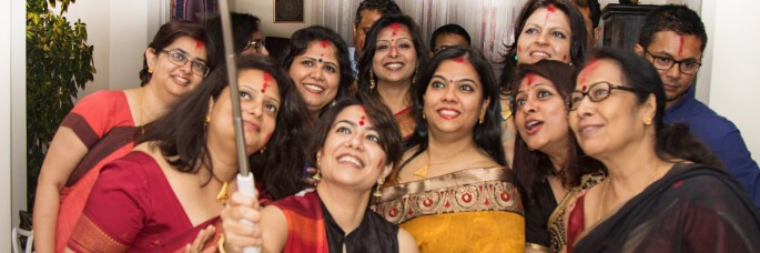 Bijoya celebrations with sindoor khela with IshitaUnblogged
