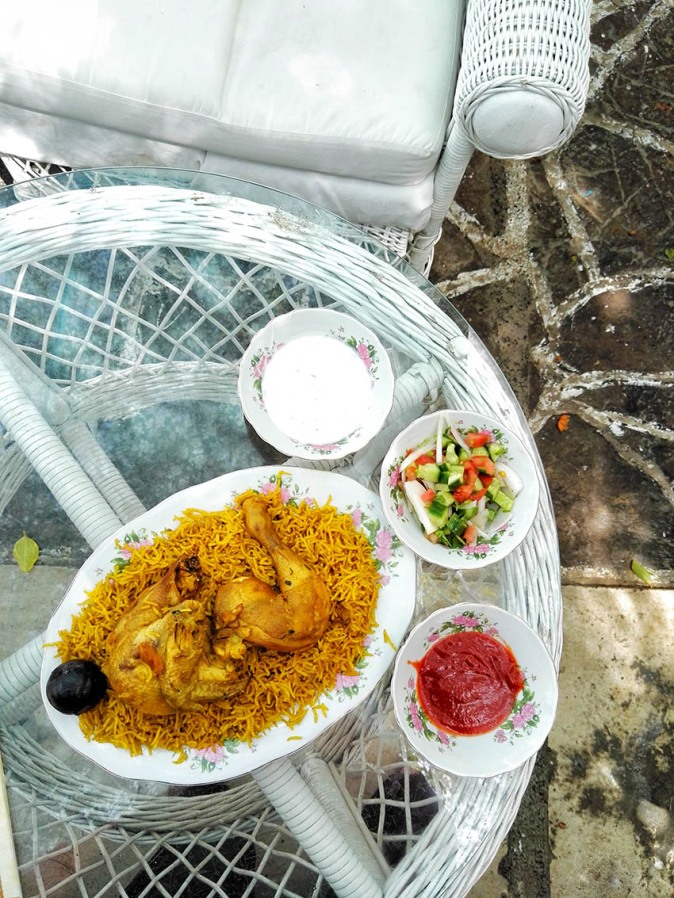 Chicken Machboos in Arabian Tea House in Bastakiya
