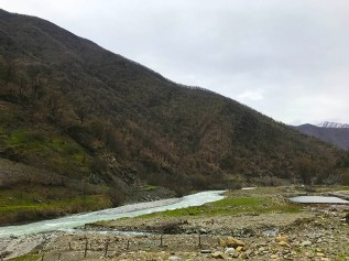 Aragvi river in Pasanauri
