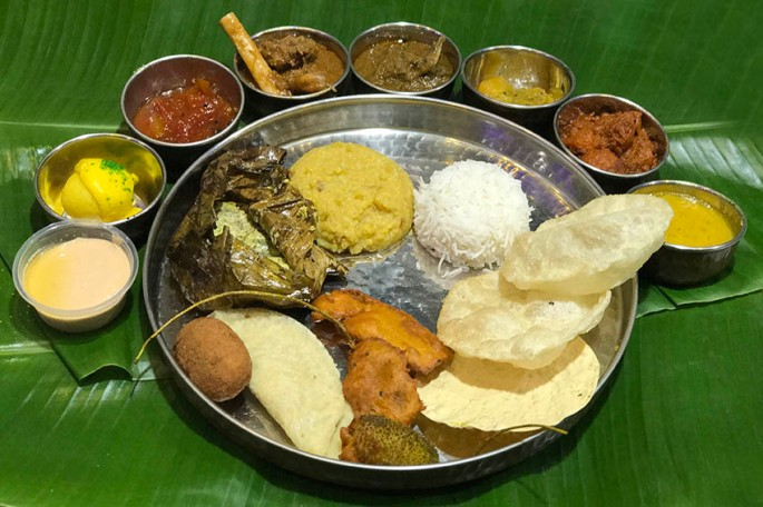 Traditional Bengali Meal thali for Shubho Noboborsho